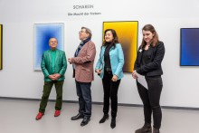 v.l.n.r.: Scharein, Jürgen A. Messmer, Lin Messmer, Juliane Platzeck