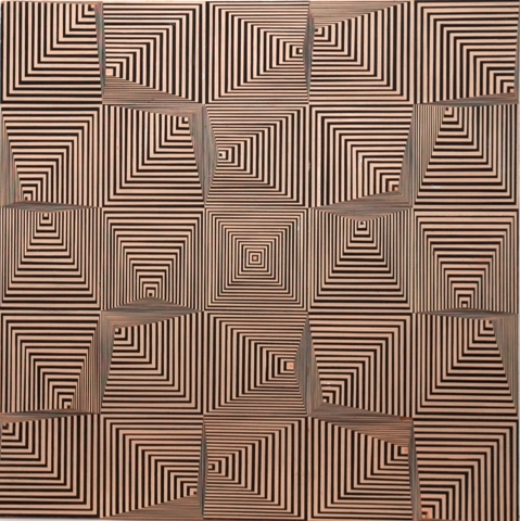 SCHAREIN - Variation Quadrat im Quadrat (Kartonarbeit), 1969