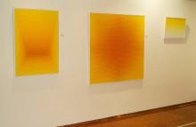 gelb, gelb-weiße und gelb-orange Arbeiten von Scharein