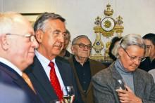 v.l.n.r.: Dr. Rolf Hanssen, Egon Bahr, Helga Reuter