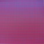 SCHAREIN - Siebgedruckt Quadrat rot, 1976
